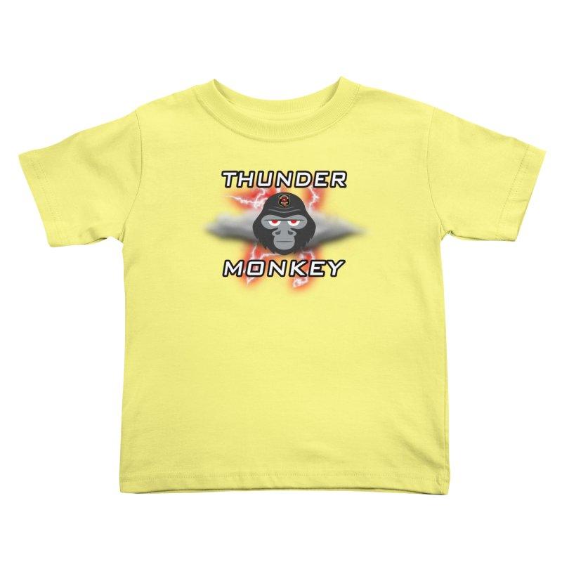 Thunder Monkey Kids Toddler T-Shirt by Vegetable Police