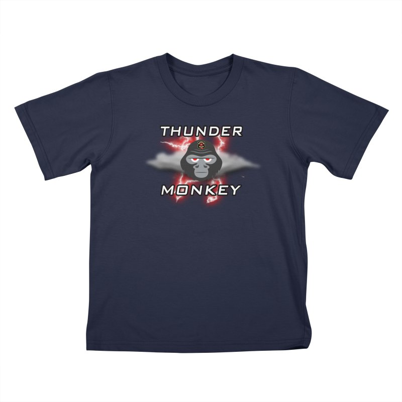 Thunder Monkey Kids T-Shirt by Vegetable Police