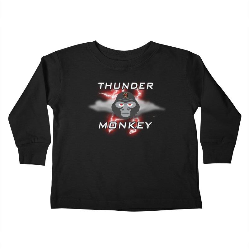 Thunder Monkey Kids Toddler Longsleeve T-Shirt by Vegetable Police