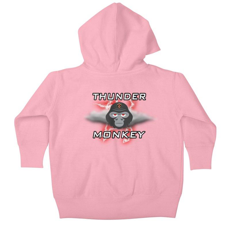 Thunder Monkey Kids Baby Zip-Up Hoody by Vegetable Conspiracies