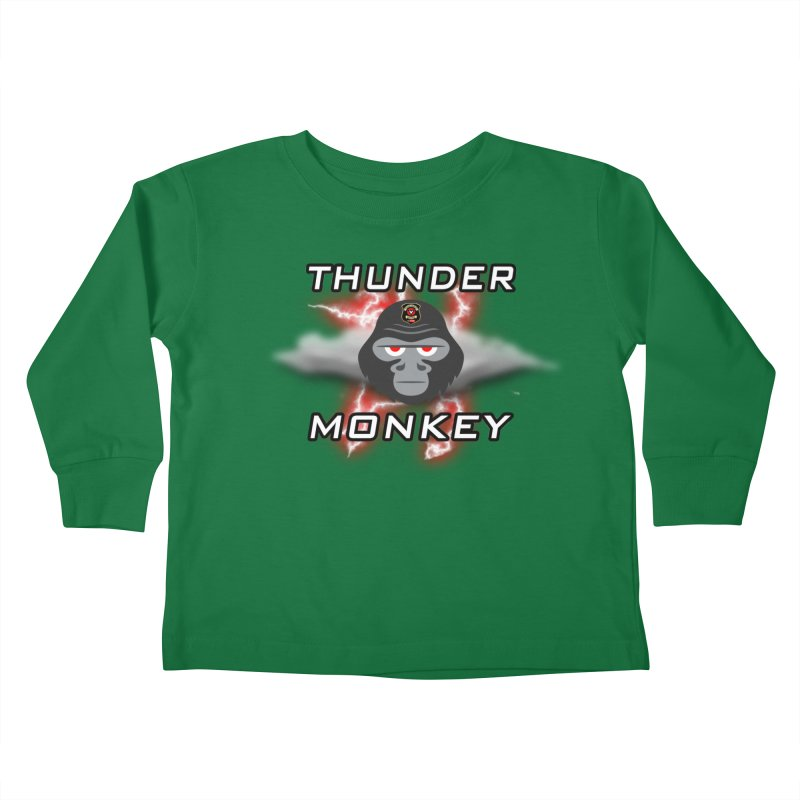 Thunder Monkey Kids Toddler Longsleeve T-Shirt by Vegetable Police