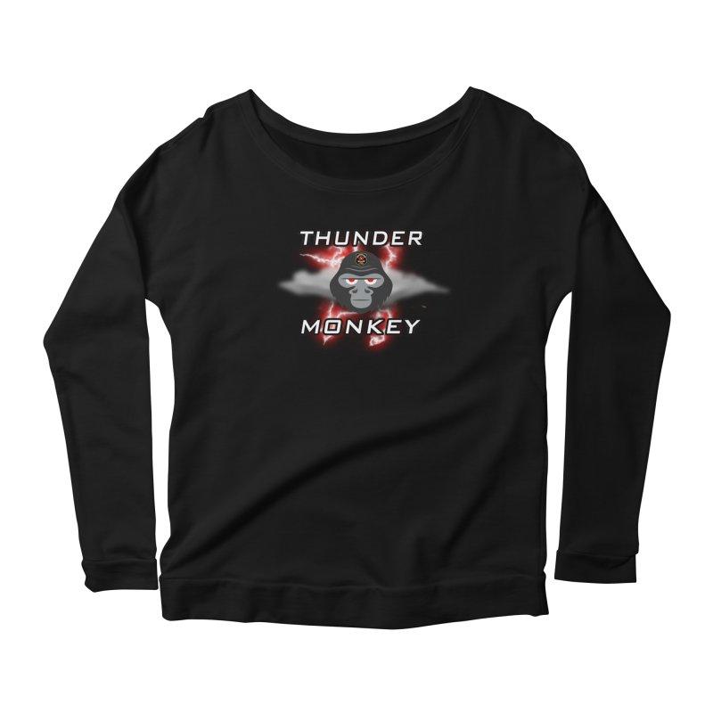 Thunder Monkey Women's Scoop Neck Longsleeve T-Shirt by Vegetable Police