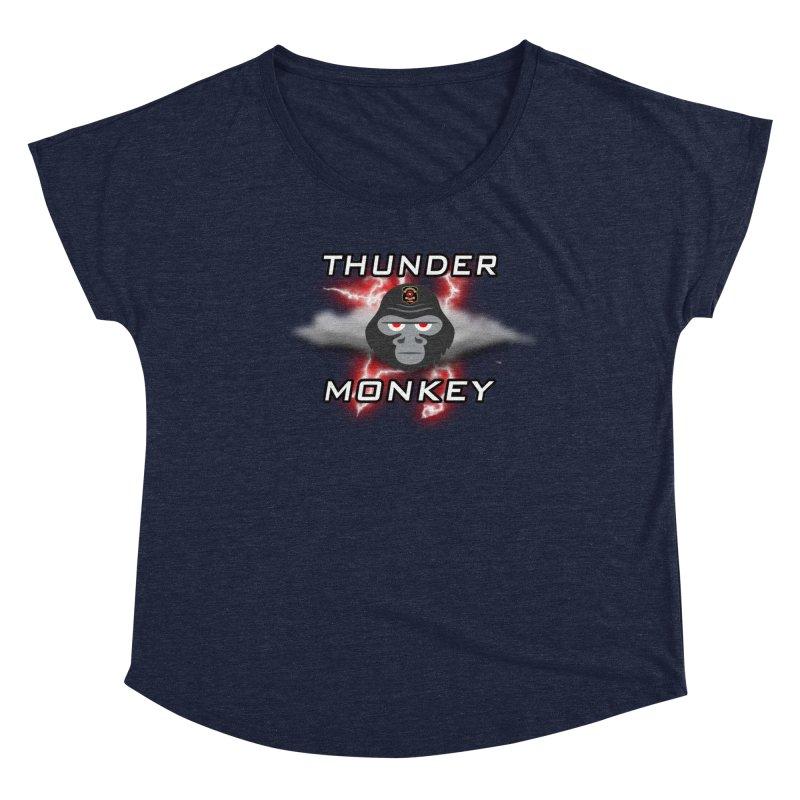 Thunder Monkey Women's Scoop Neck by Vegetable Police