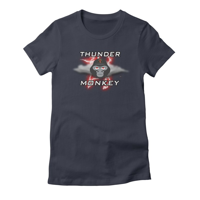 Thunder Monkey Women's T-Shirt by Vegetable Conspiracies