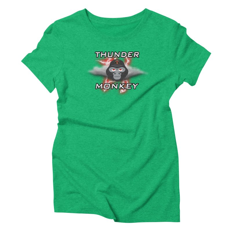 Thunder Monkey Women's Triblend T-Shirt by Vegetable Police