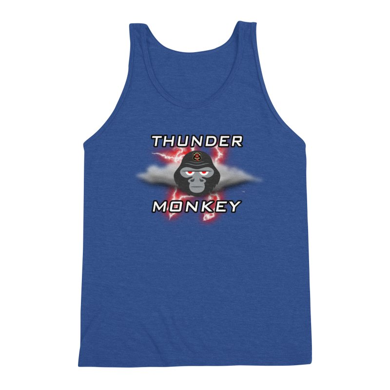 Thunder Monkey Men's Triblend Tank by Vegetable Police