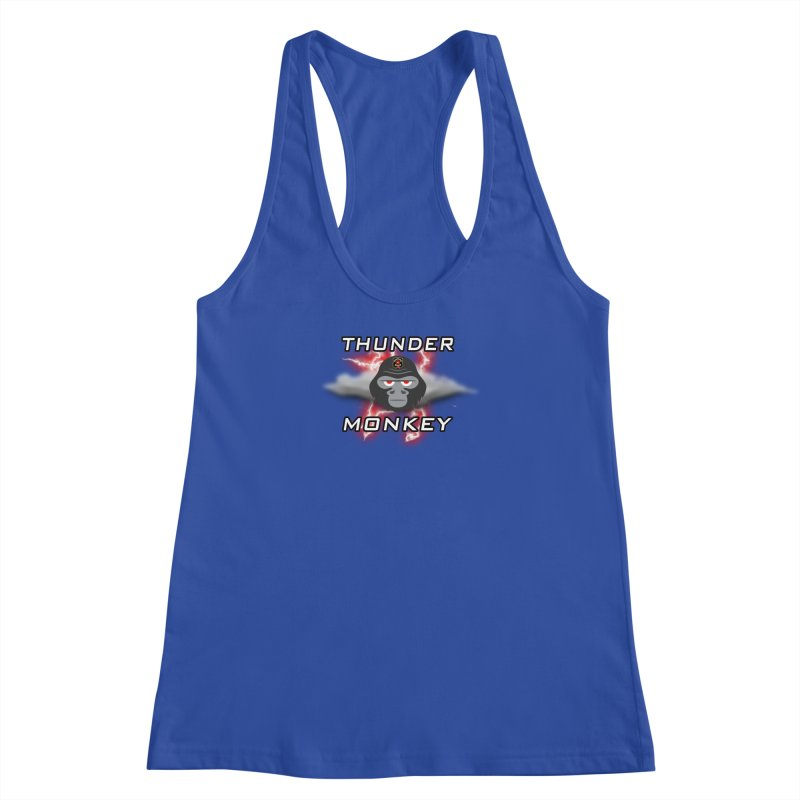 Thunder Monkey Women's Racerback Tank by Vegetable Police