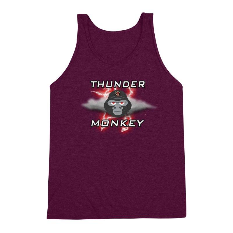 Thunder Monkey Men's Triblend Tank by Vegetable Police