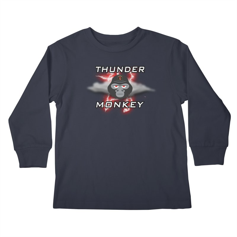 Thunder Monkey Kids Longsleeve T-Shirt by Vegetable Police