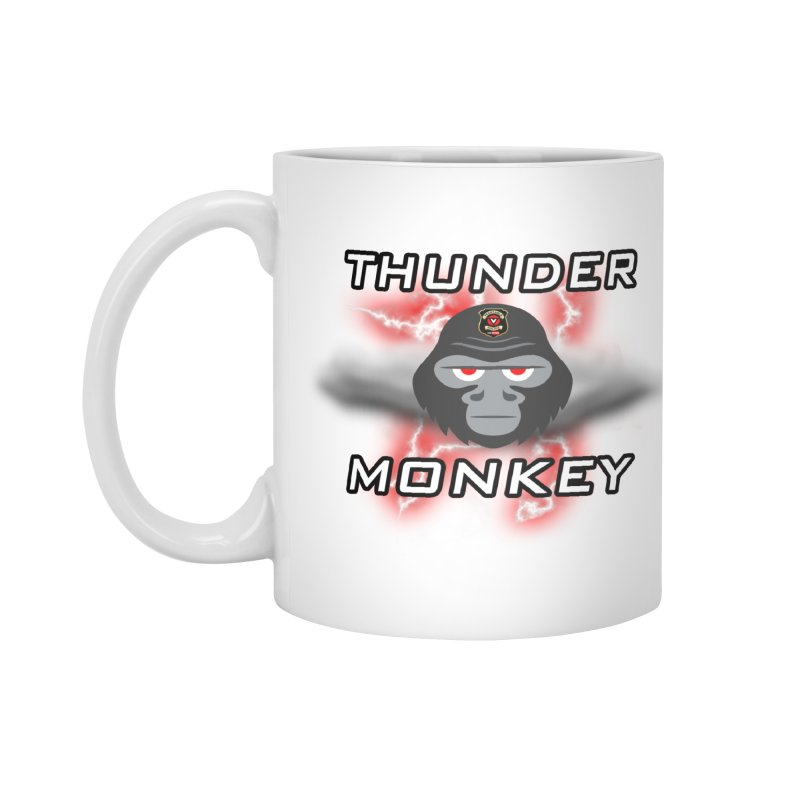 Thunder Monkey Accessories Standard Mug by Vegetable Police