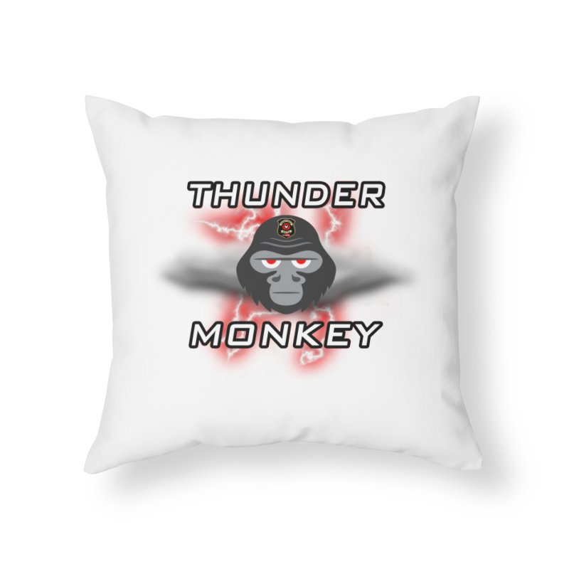 Thunder Monkey Home Throw Pillow by Vegetable Police