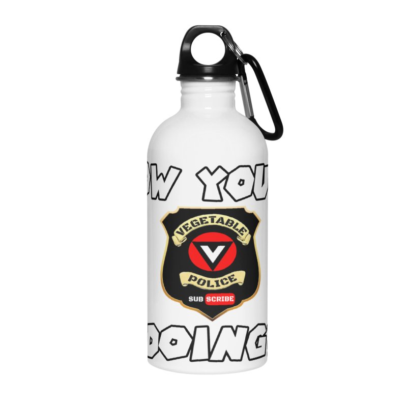 How You're Doing (badge edition) Accessories Water Bottle by Vegetable Police