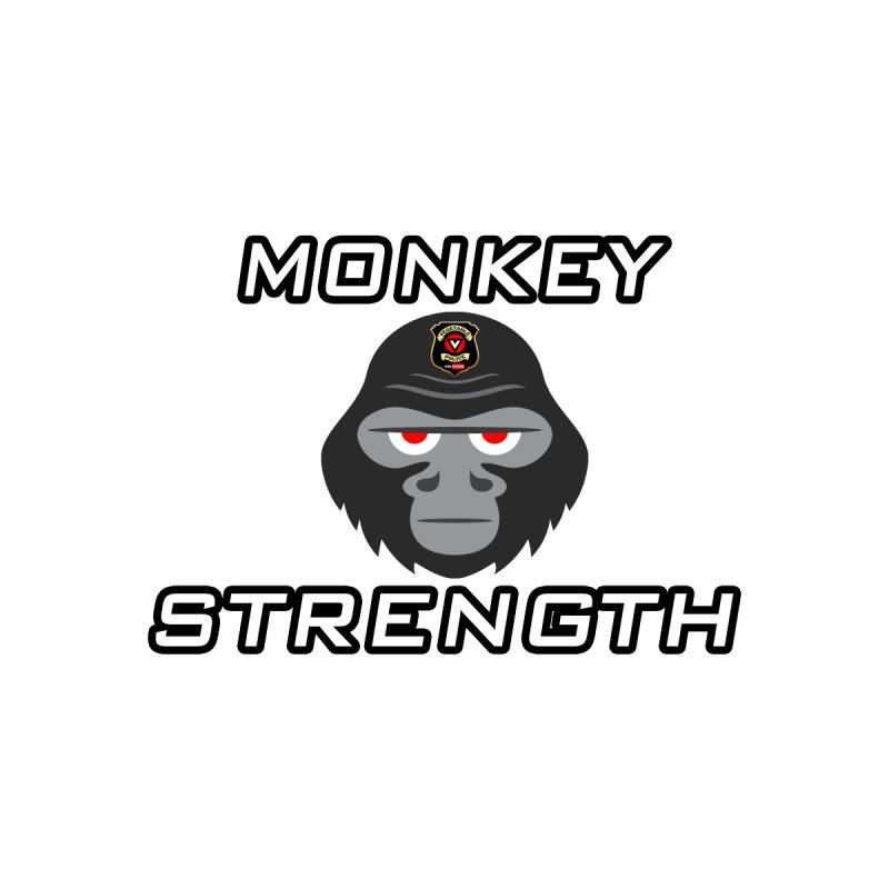 Monkey Strength Men's V-Neck by Vegetable Police