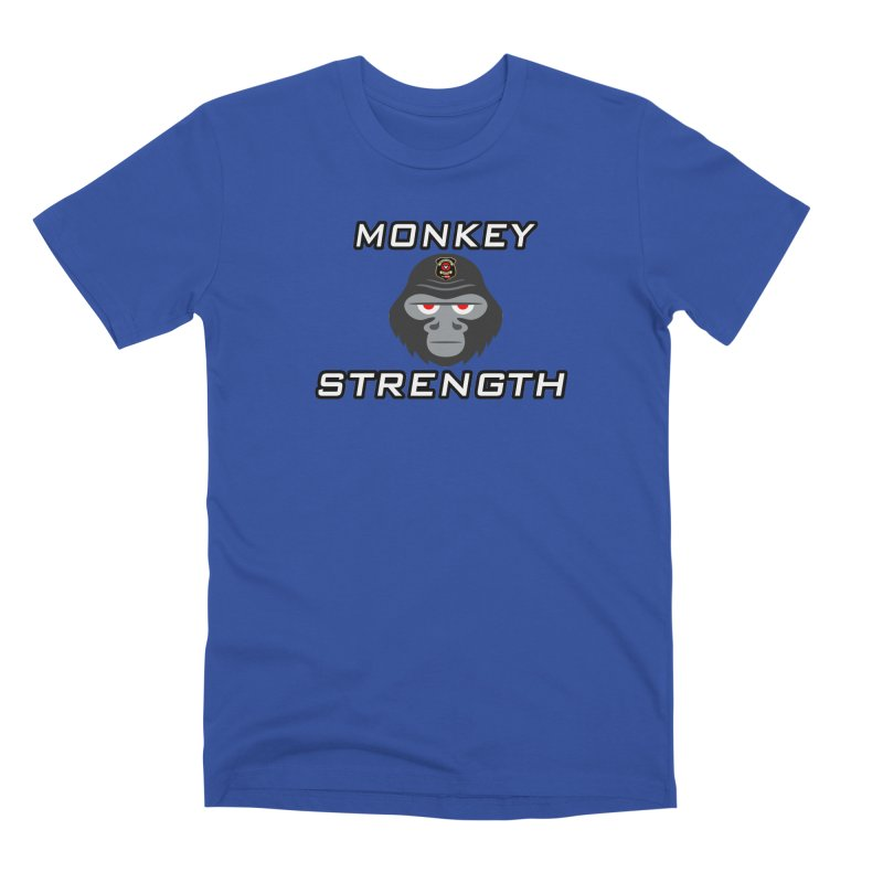Monkey Strength Men's Premium T-Shirt by Vegetable Police