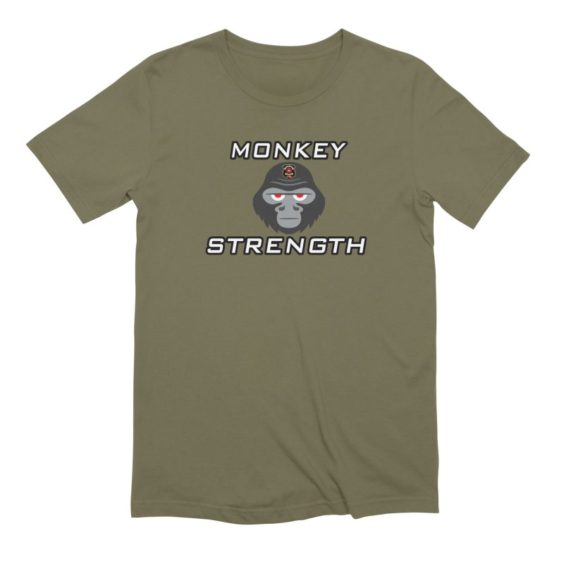 Monkey Strength Men's Extra Soft T-Shirt by Vegetable Police