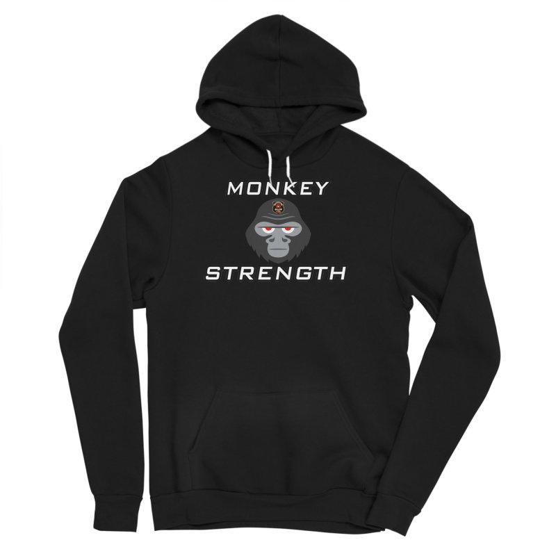 Monkey Strength Men's Sponge Fleece Pullover Hoody by Vegetable Police