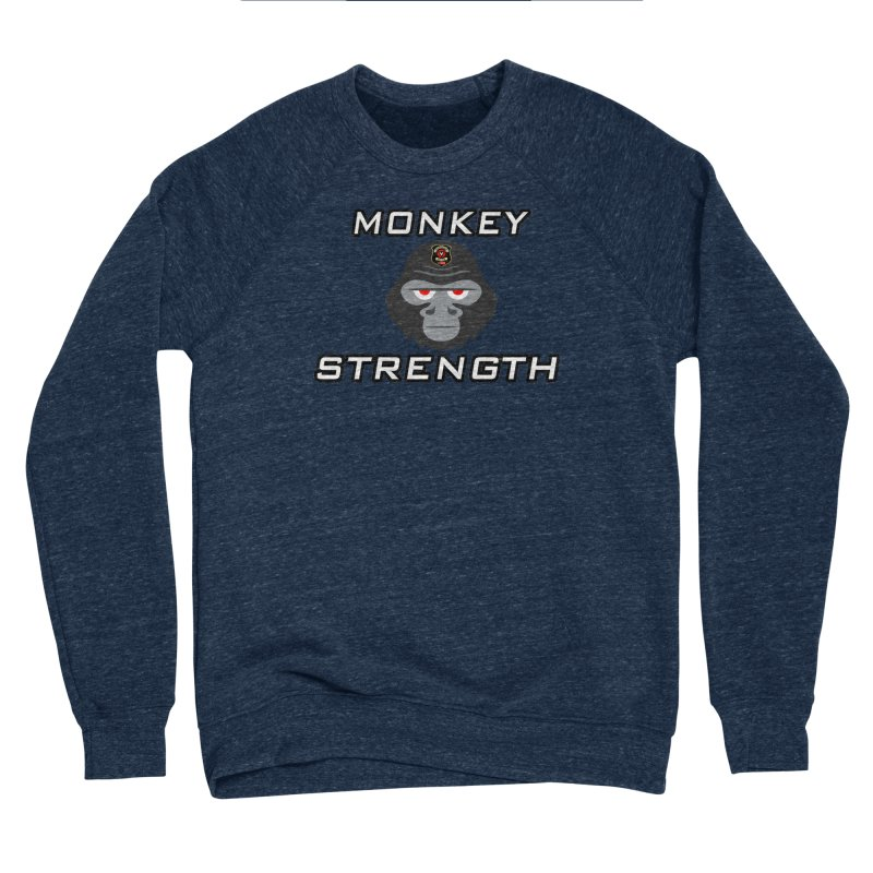 Monkey Strength Women's Sponge Fleece Sweatshirt by Vegetable Police