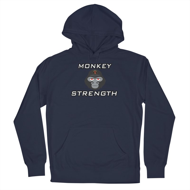 Monkey Strength Men's French Terry Pullover Hoody by Vegetable Police