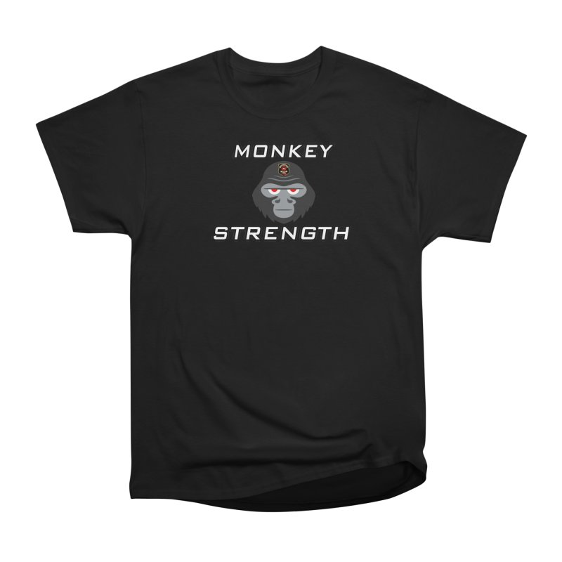 Monkey Strength Women's Heavyweight Unisex T-Shirt by Vegetable Police