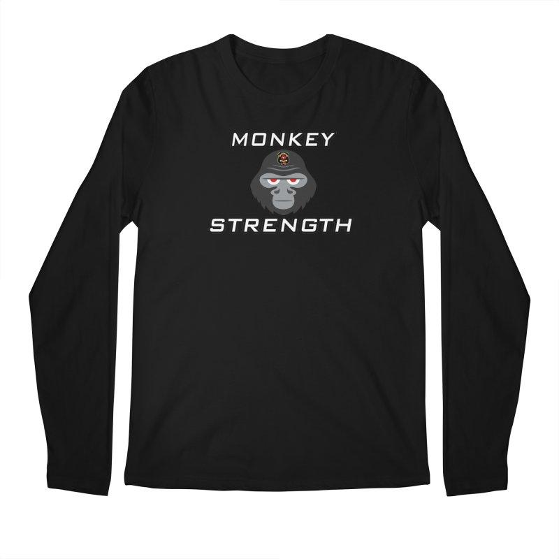 Monkey Strength Men's Regular Longsleeve T-Shirt by Vegetable Police
