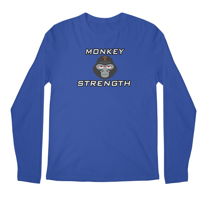 Monkey Strength Men's Regular Longsleeve T-Shirt by Vegetable Police