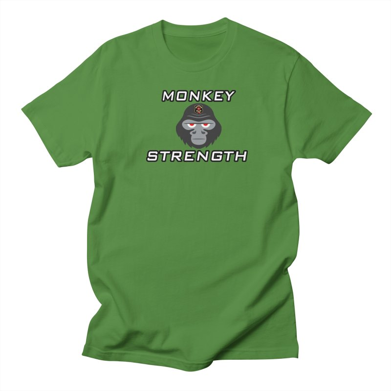 Monkey Strength Men's T-Shirt by Vegetable Conspiracies