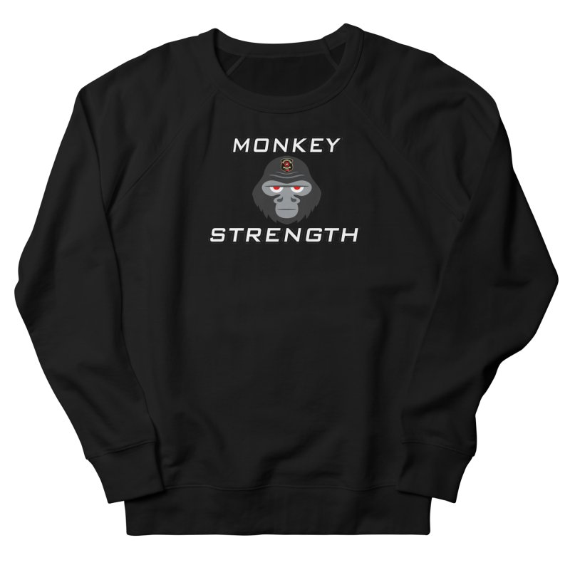 Monkey Strength Men's French Terry Sweatshirt by Vegetable Police