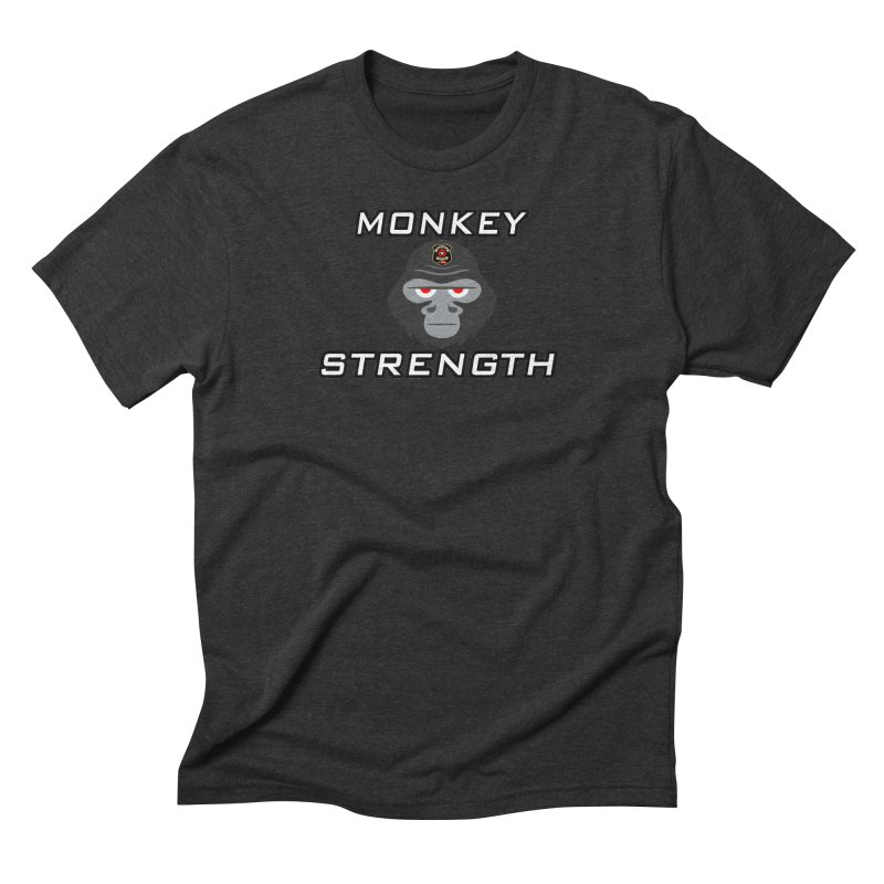 Monkey Strength Men's Triblend T-Shirt by Vegetable Police