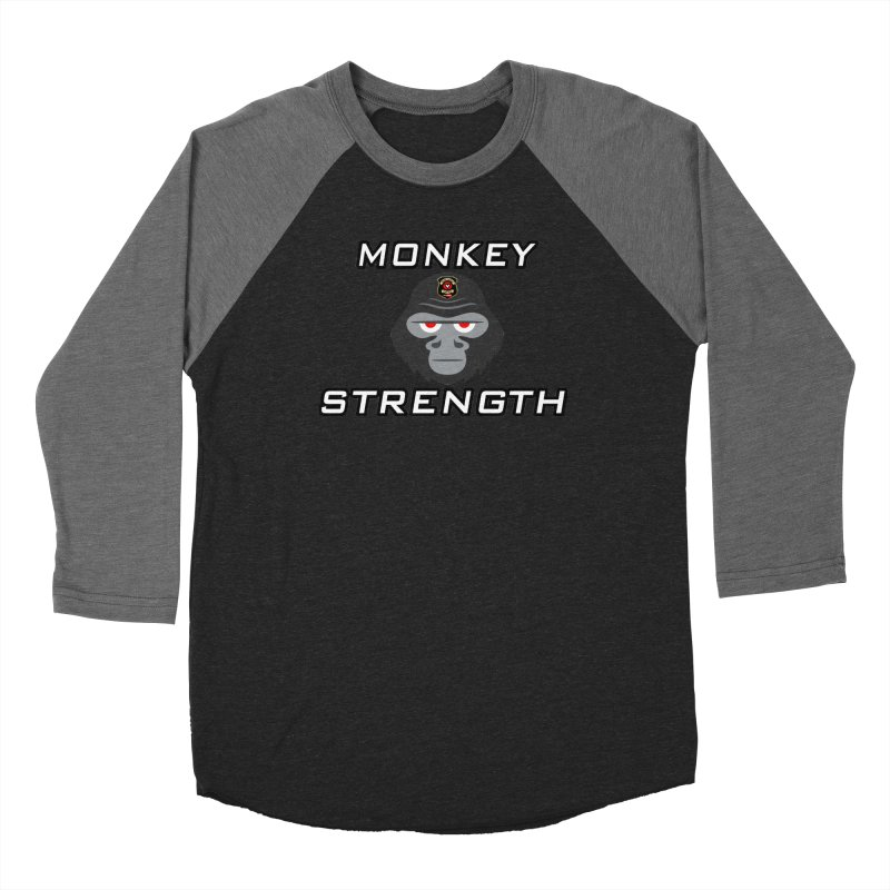 Monkey Strength Women's Baseball Triblend Longsleeve T-Shirt by Vegetable Police