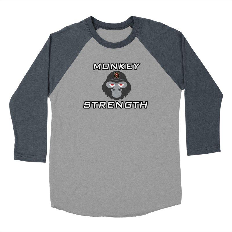 Monkey Strength Men's Baseball Triblend Longsleeve T-Shirt by Vegetable Police