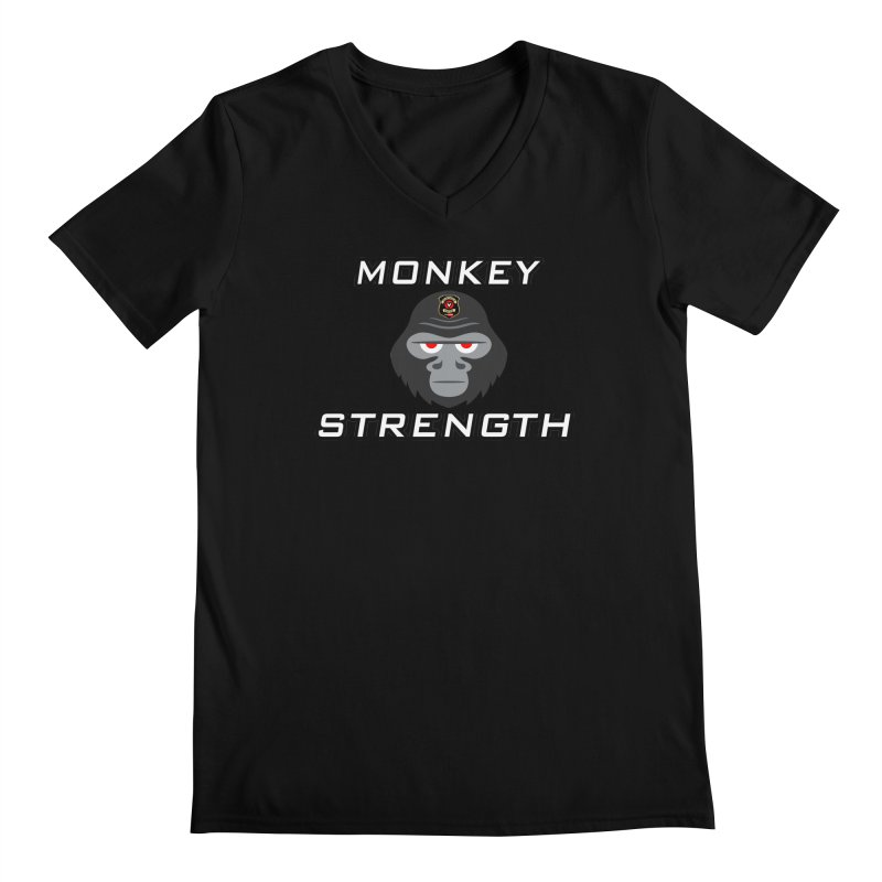 Monkey Strength Men's V-Neck by Vegetable Conspiracies