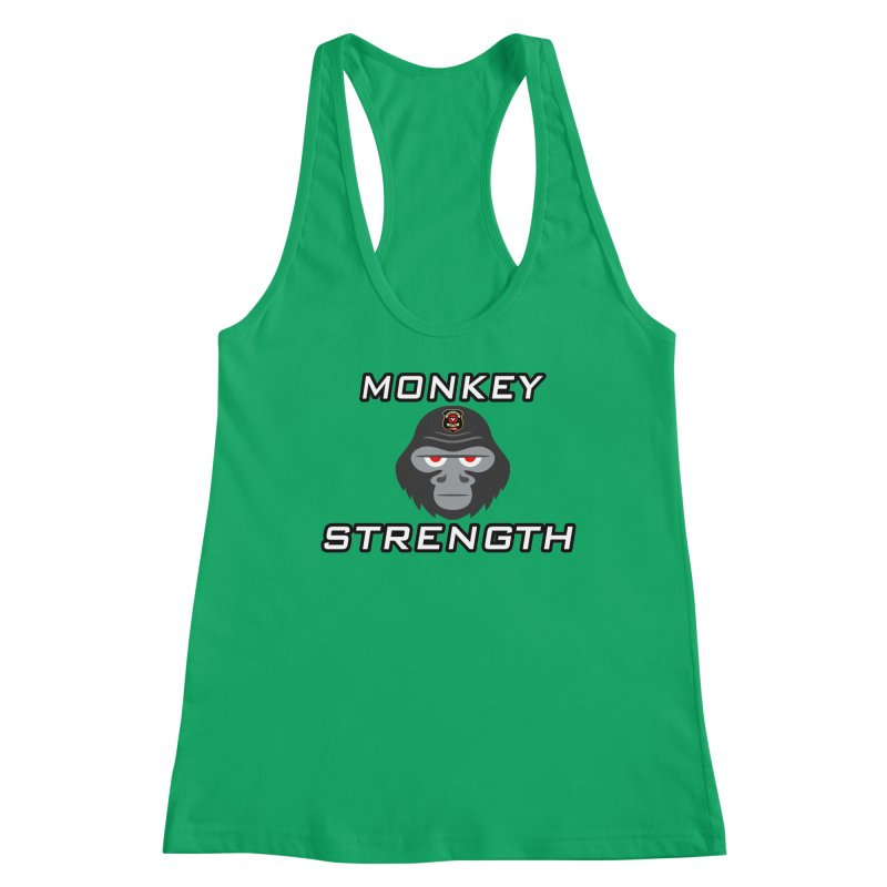 Monkey Strength Women's Tank by Vegetable Conspiracies