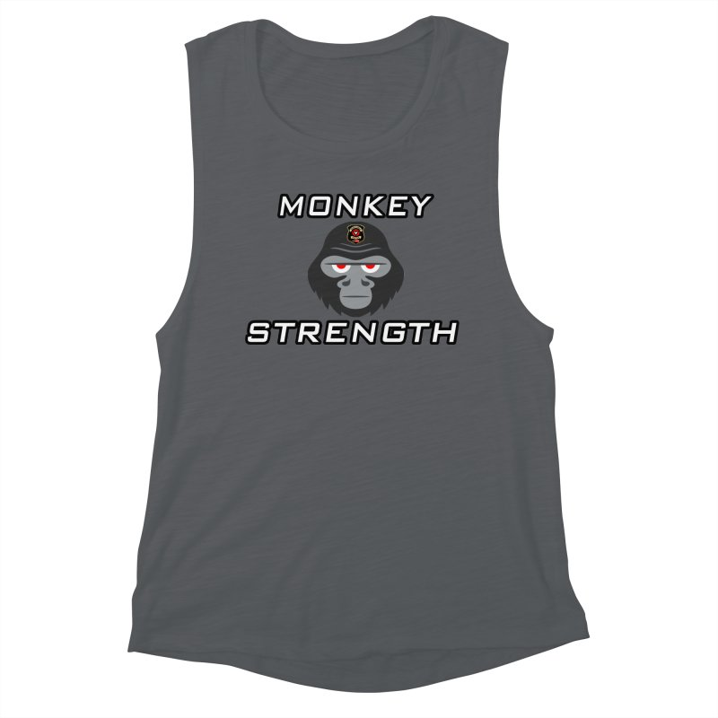 Monkey Strength Women's Muscle Tank by Vegetable Police