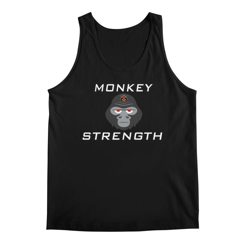 Monkey Strength Men's Tank by Vegetable Conspiracies