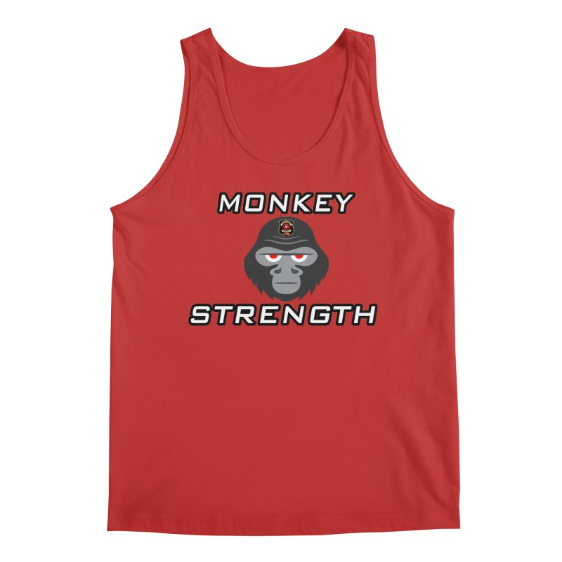 Monkey Strength Men's Tank by Vegetable Conspiracies