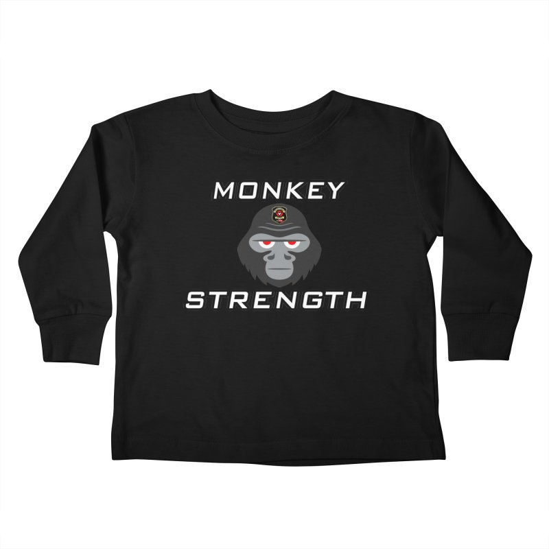 Monkey Strength Kids Toddler Longsleeve T-Shirt by Vegetable Police