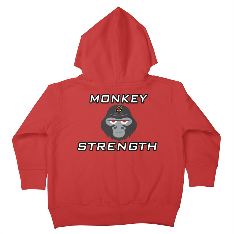 Monkey Strength Kids Toddler Zip-Up Hoody by Vegetable Police
