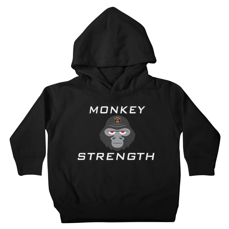 Monkey Strength Kids Toddler Pullover Hoody by Vegetable Police