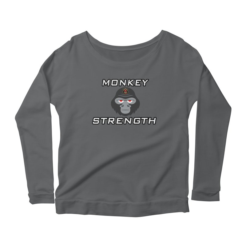 Monkey Strength Women's Longsleeve T-Shirt by Vegetable Police