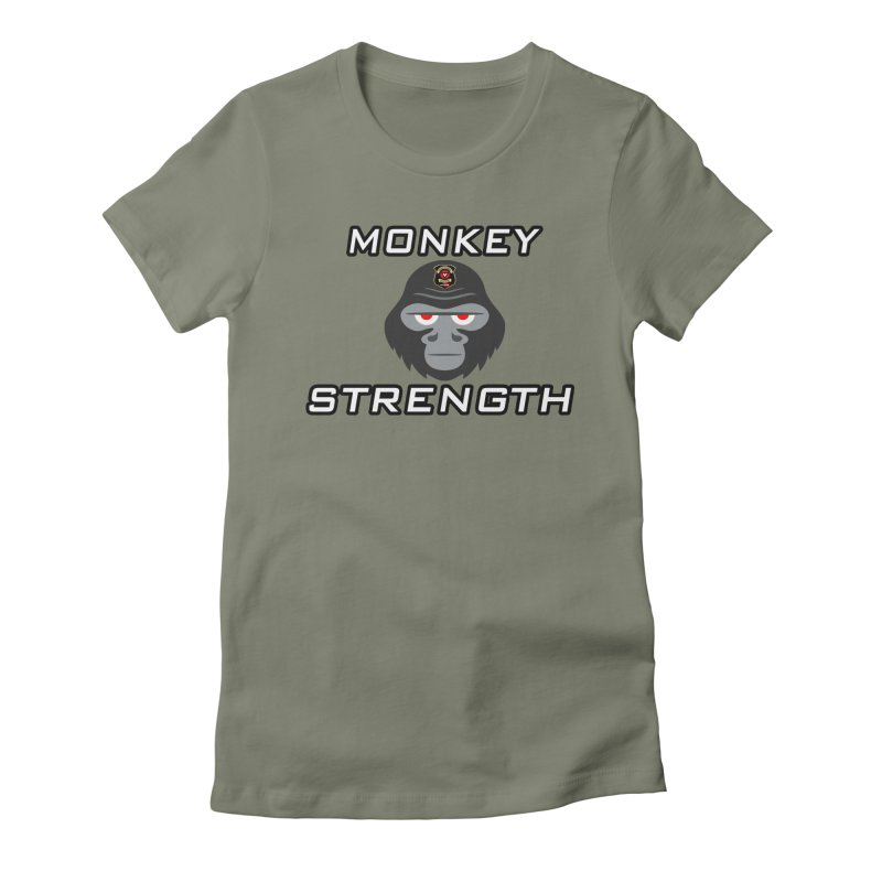 Monkey Strength Women's Fitted T-Shirt by Vegetable Police