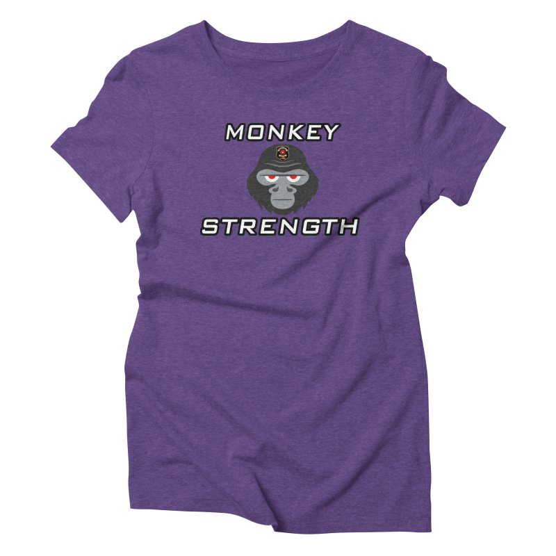 Monkey Strength Women's Triblend T-Shirt by Vegetable Police