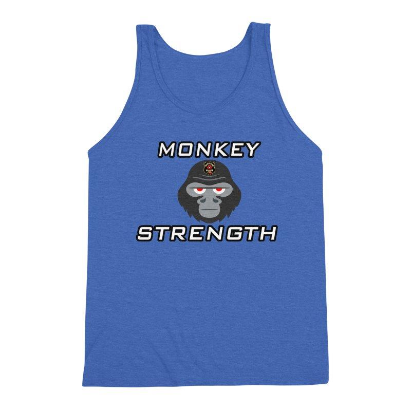 Monkey Strength Men's Tank by Vegetable Police