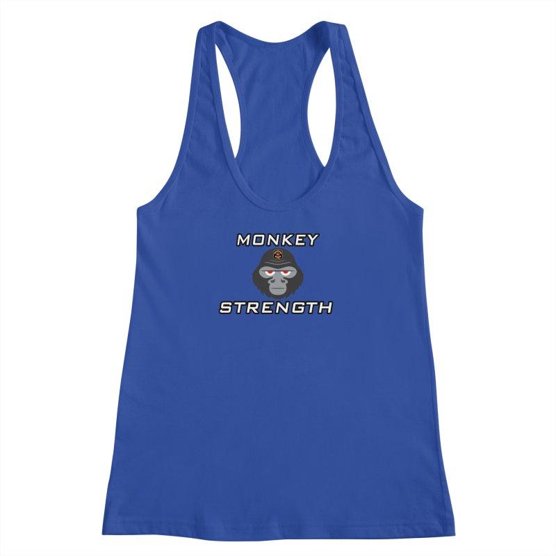 Monkey Strength Women's Racerback Tank by Vegetable Police