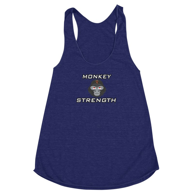Monkey Strength Women's Racerback Triblend Tank by Vegetable Police