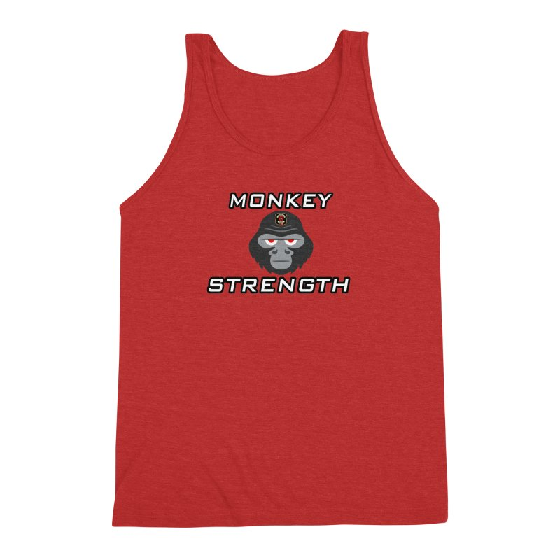 Monkey Strength Men's Triblend Tank by Vegetable Police