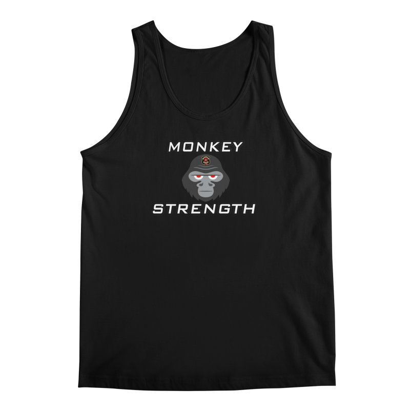 Monkey Strength in Men's Tank Black by Vegetable Police