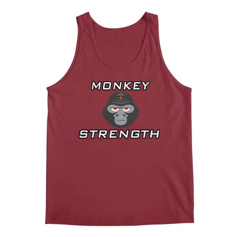 Monkey Strength Men's Tank by Vegetable Police