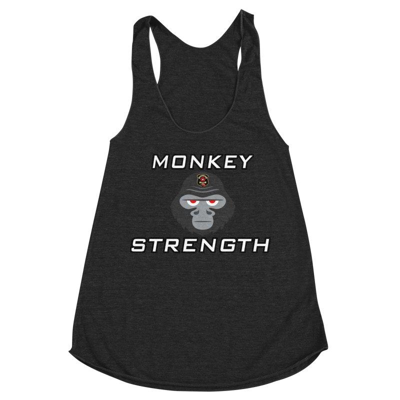 Monkey Strength Women's Racerback Triblend Tank by Vegetable Police