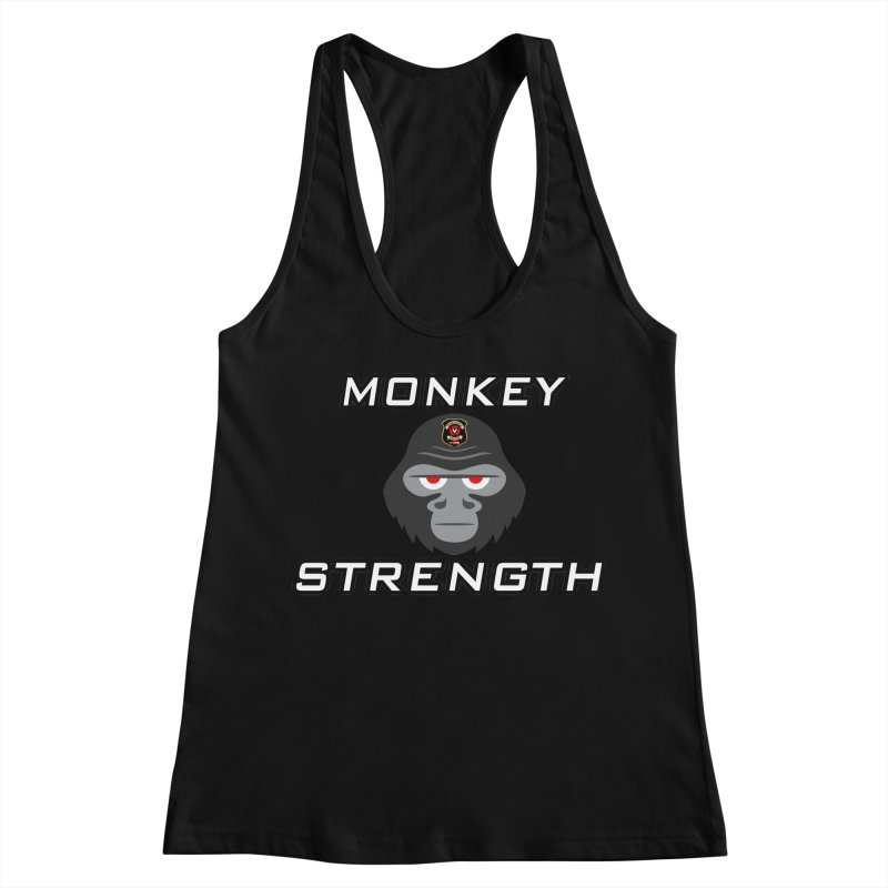 Monkey Strength Women's Racerback Tank by Vegetable Police