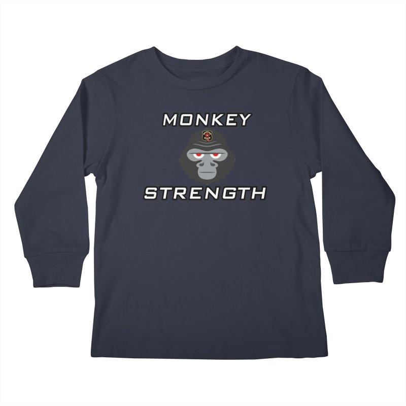 Monkey Strength Kids Longsleeve T-Shirt by Vegetable Conspiracies